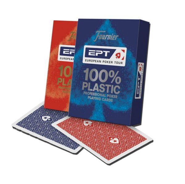 baraja de poker ept plastico 100%