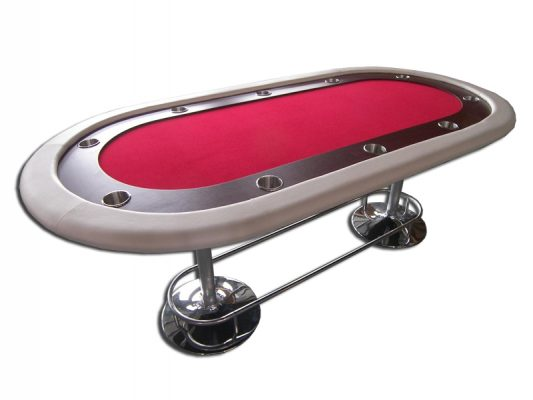 mesa de poquer roja