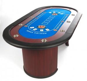 mesa de poker azul